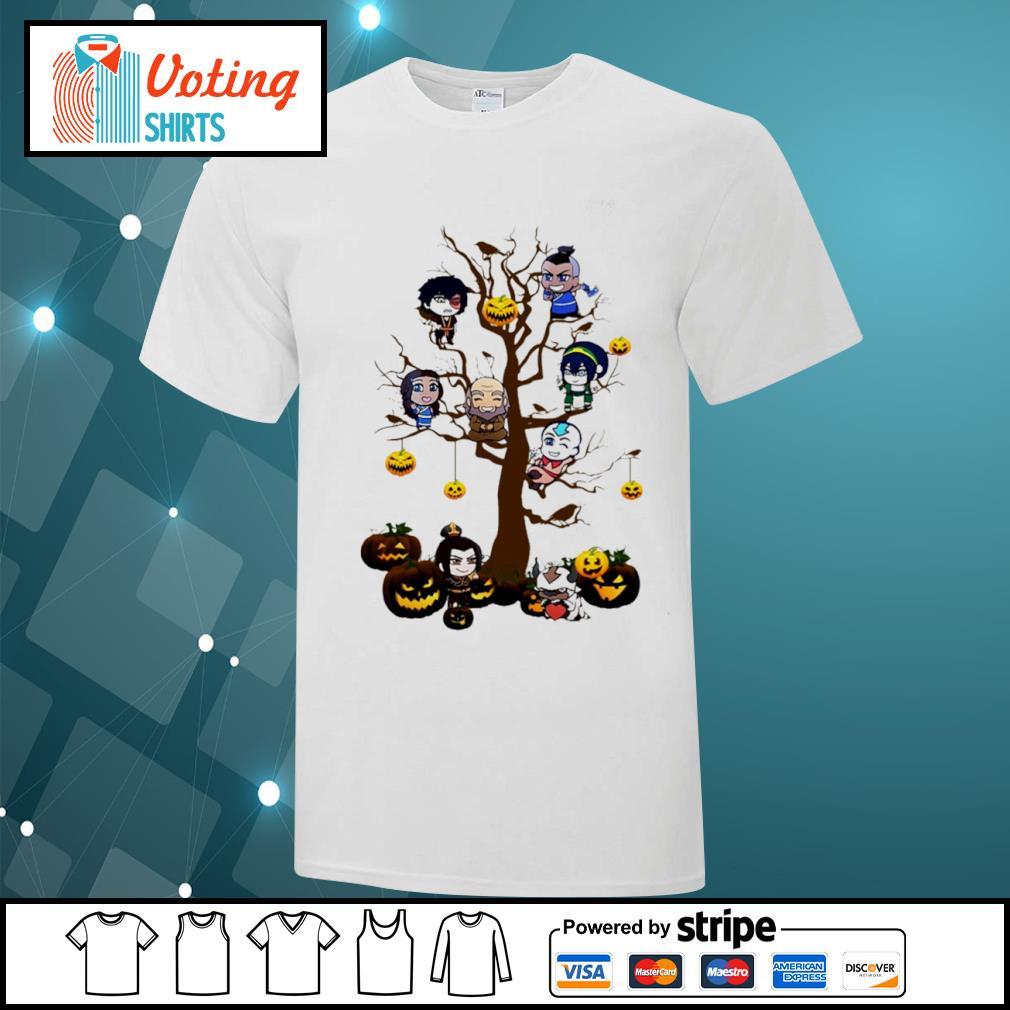Avatar the last Airbender chibi on tree Halloween shirt