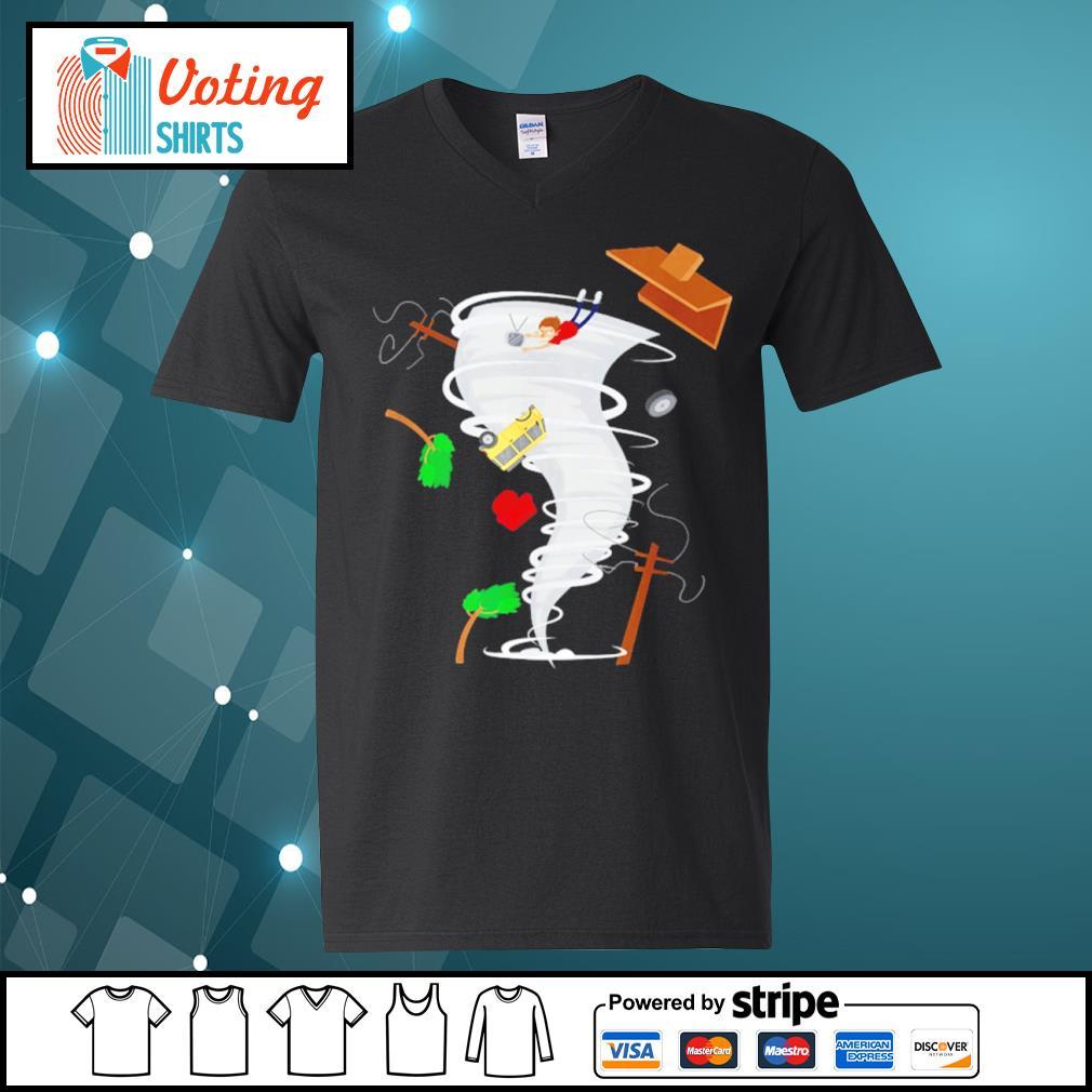Awesome tornado storm chaser s v-neck-t-shirt