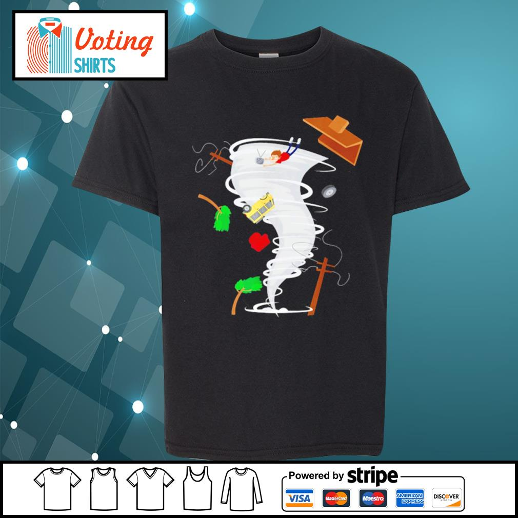 Awesome tornado storm chaser s youth-tee