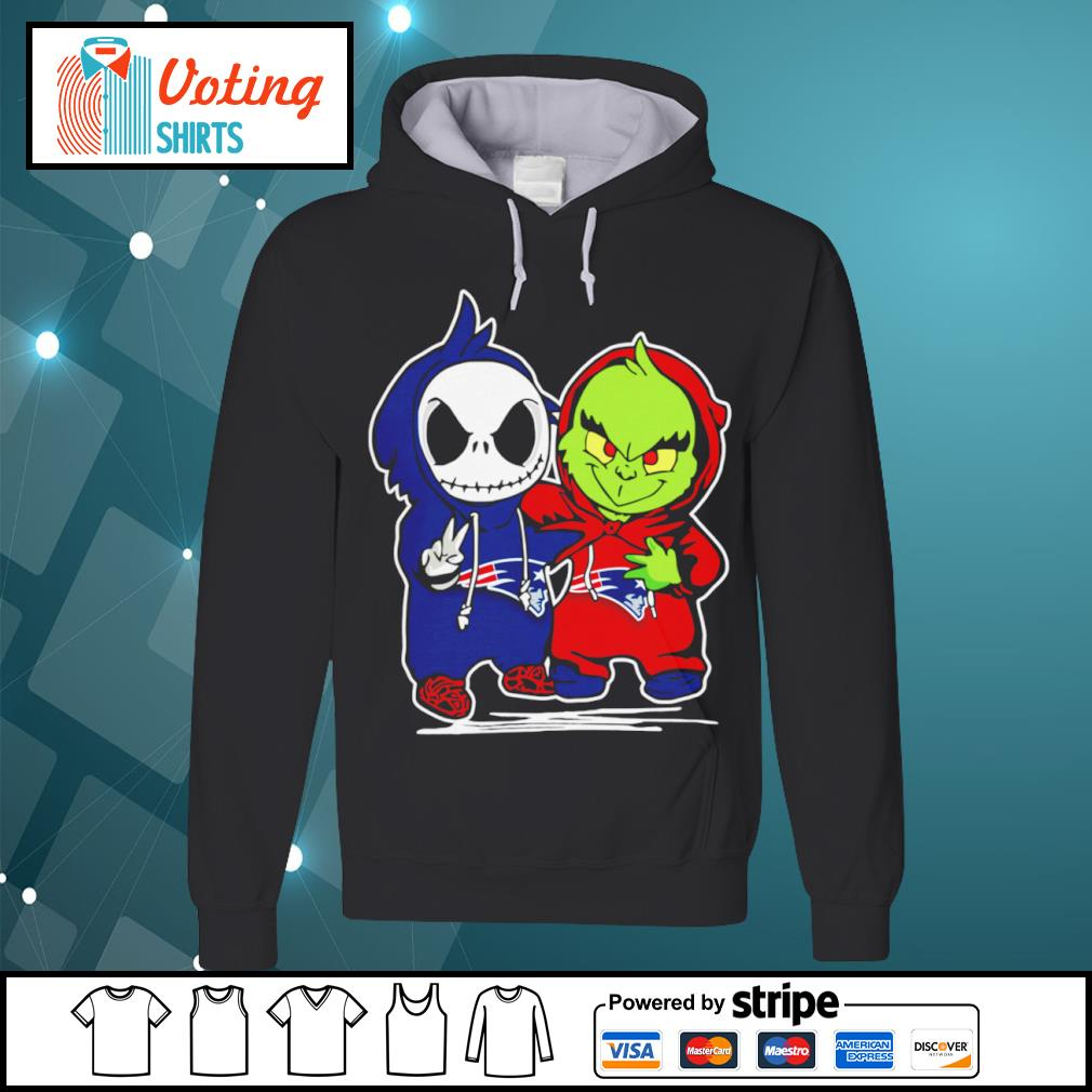 Baby Jack Skellington and Baby Grinch New England Patriots s hoodie