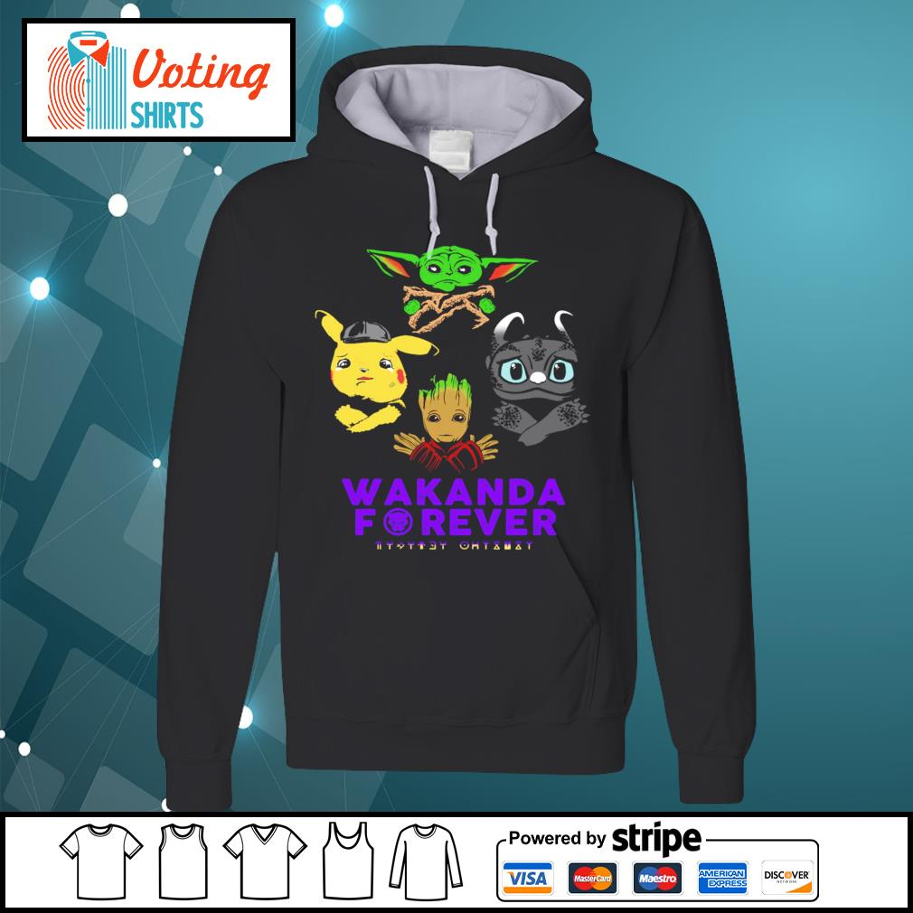 Baby yoda pikachu baby groot night fury wakanda forever s hoodie