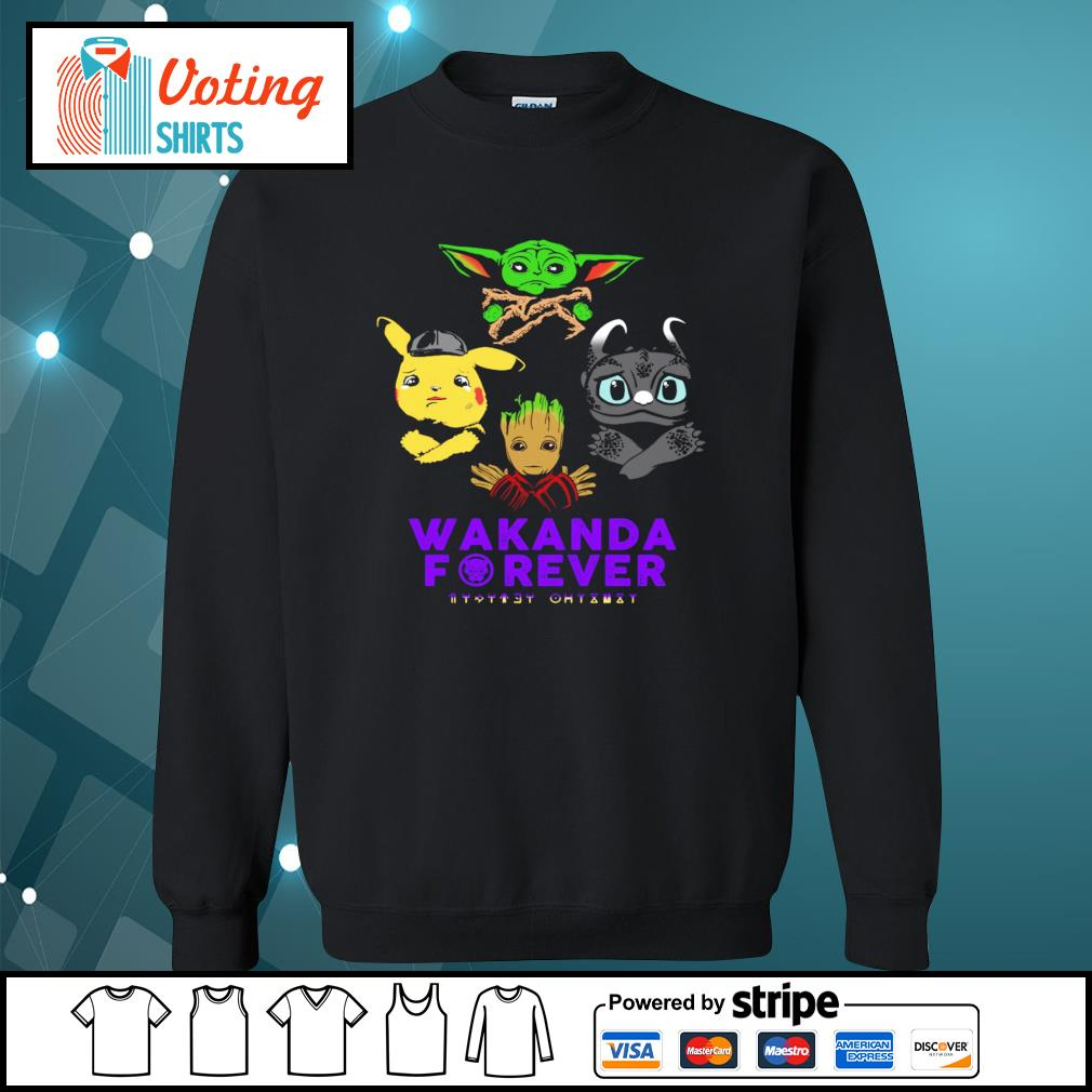Baby yoda pikachu baby groot night fury wakanda forever s sweater