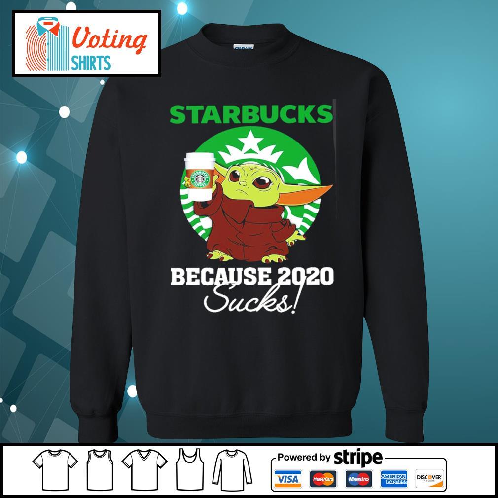 Baby Yoda Starbucks because 2020 sucks s sweater
