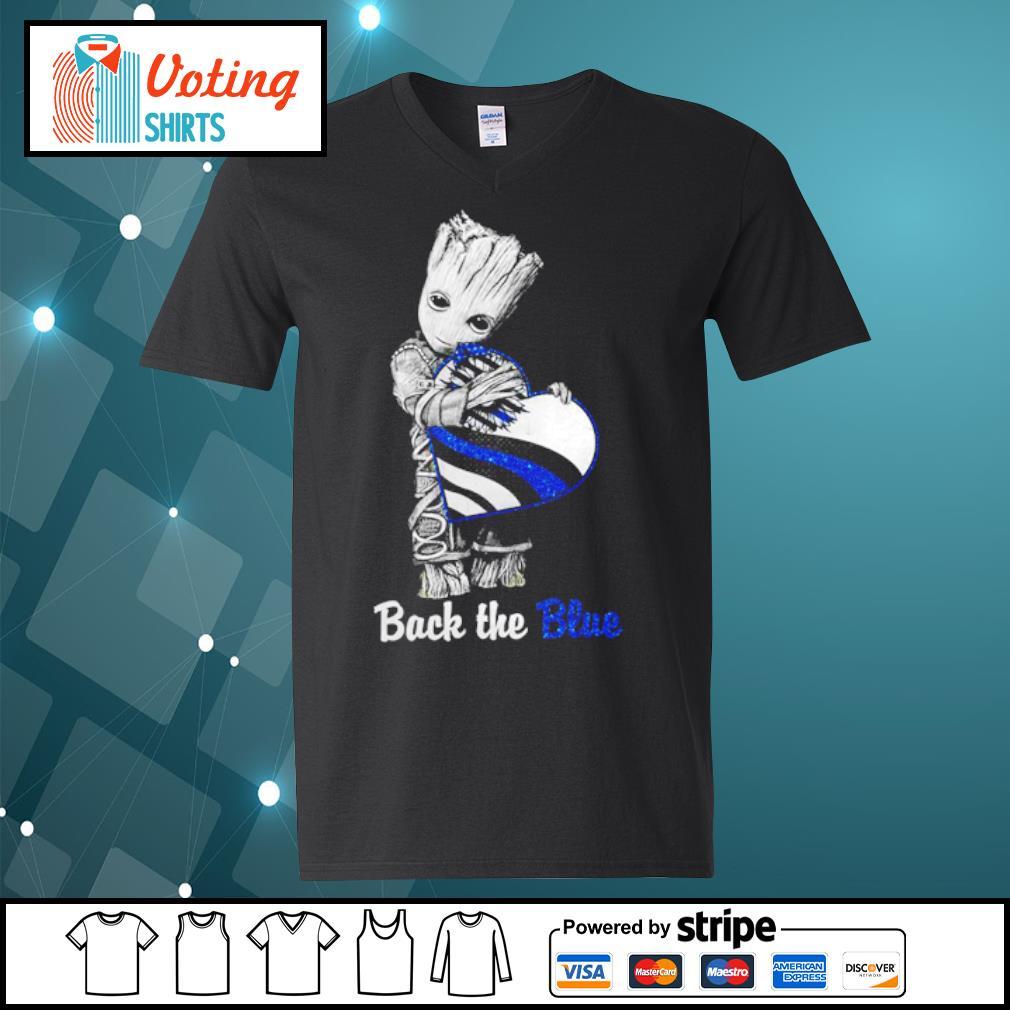Back the blue Baby Groot s v-neck-t-shirt