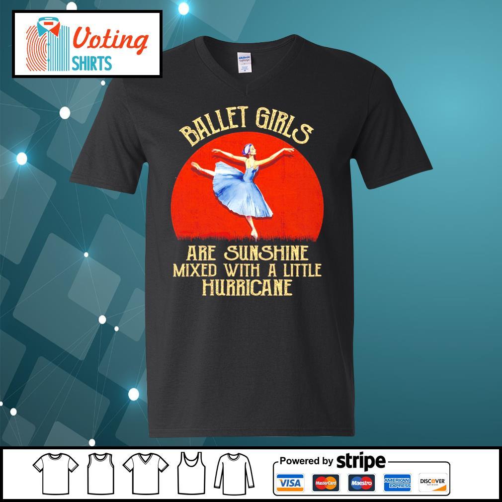 Ballet girl are sunshine mixed with a little hurricane halloween s v-neck-t-shirt