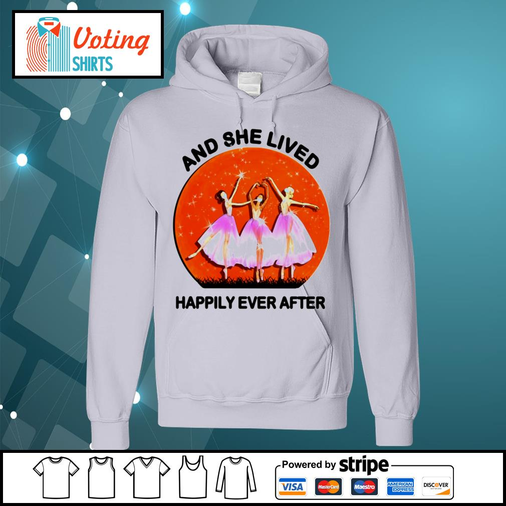 Ballet girls mask and she lived happily ever after halloween s hoodie