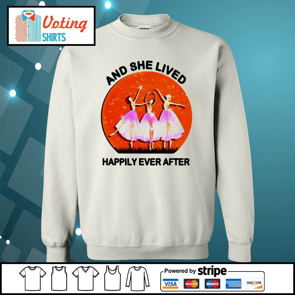 Ballet girls mask and she lived happily ever after halloween s sweater