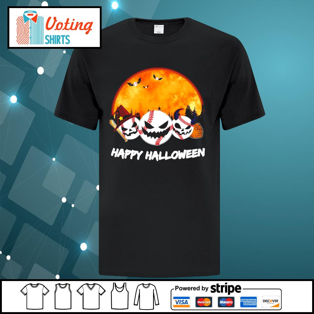 Baseball Happy Halloween shirt