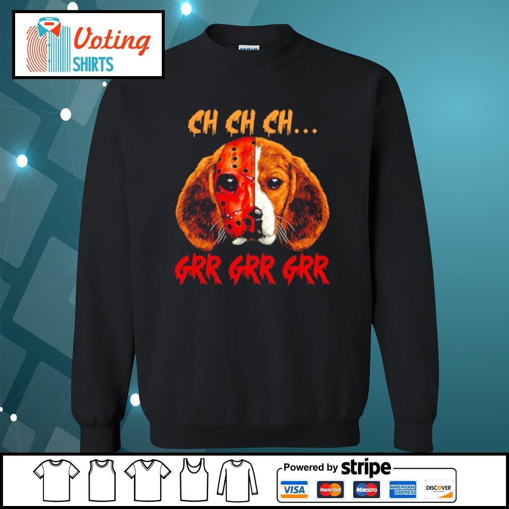 Beagle Jason Voorhees Mask ch ch ch grr s sweater
