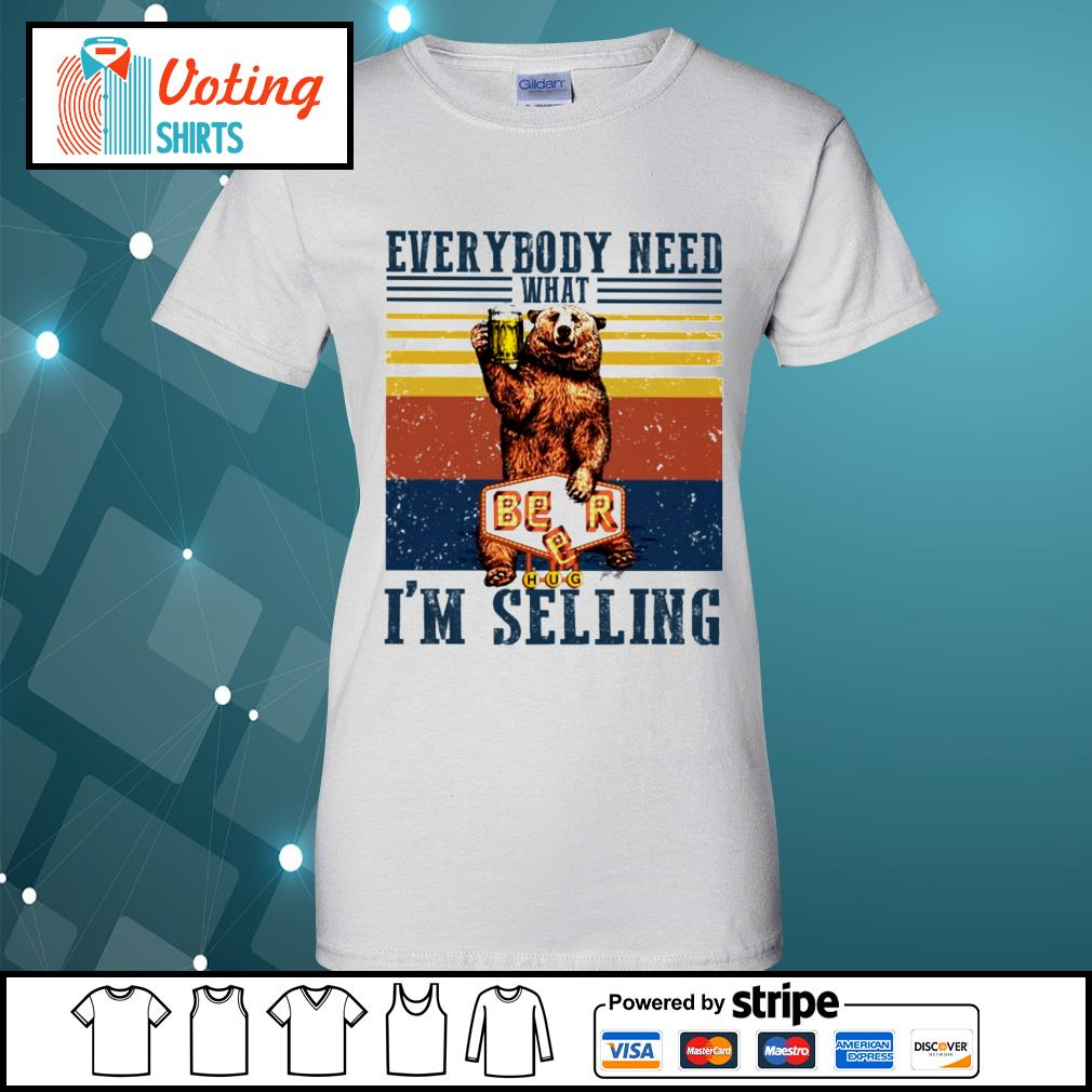 Bear beer everybody need what I'm selling vintage s ladies-tee