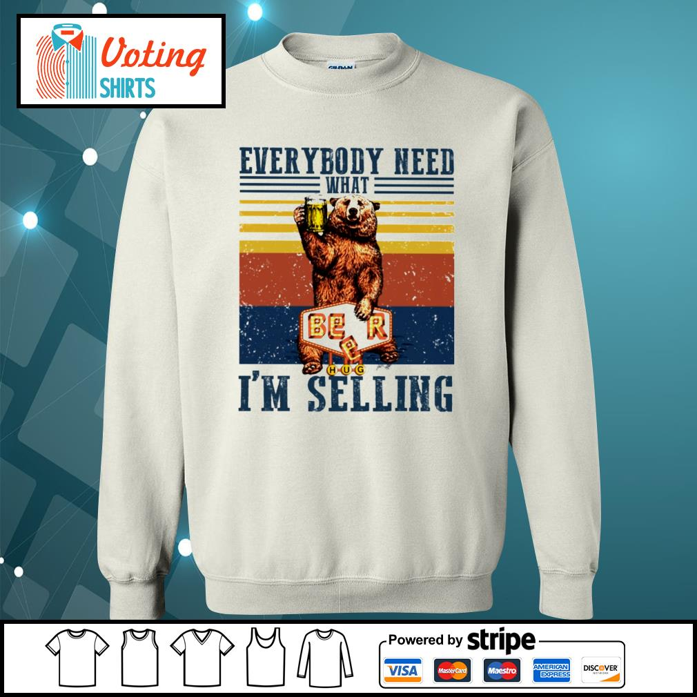 Bear beer everybody need what I'm selling vintage s sweater