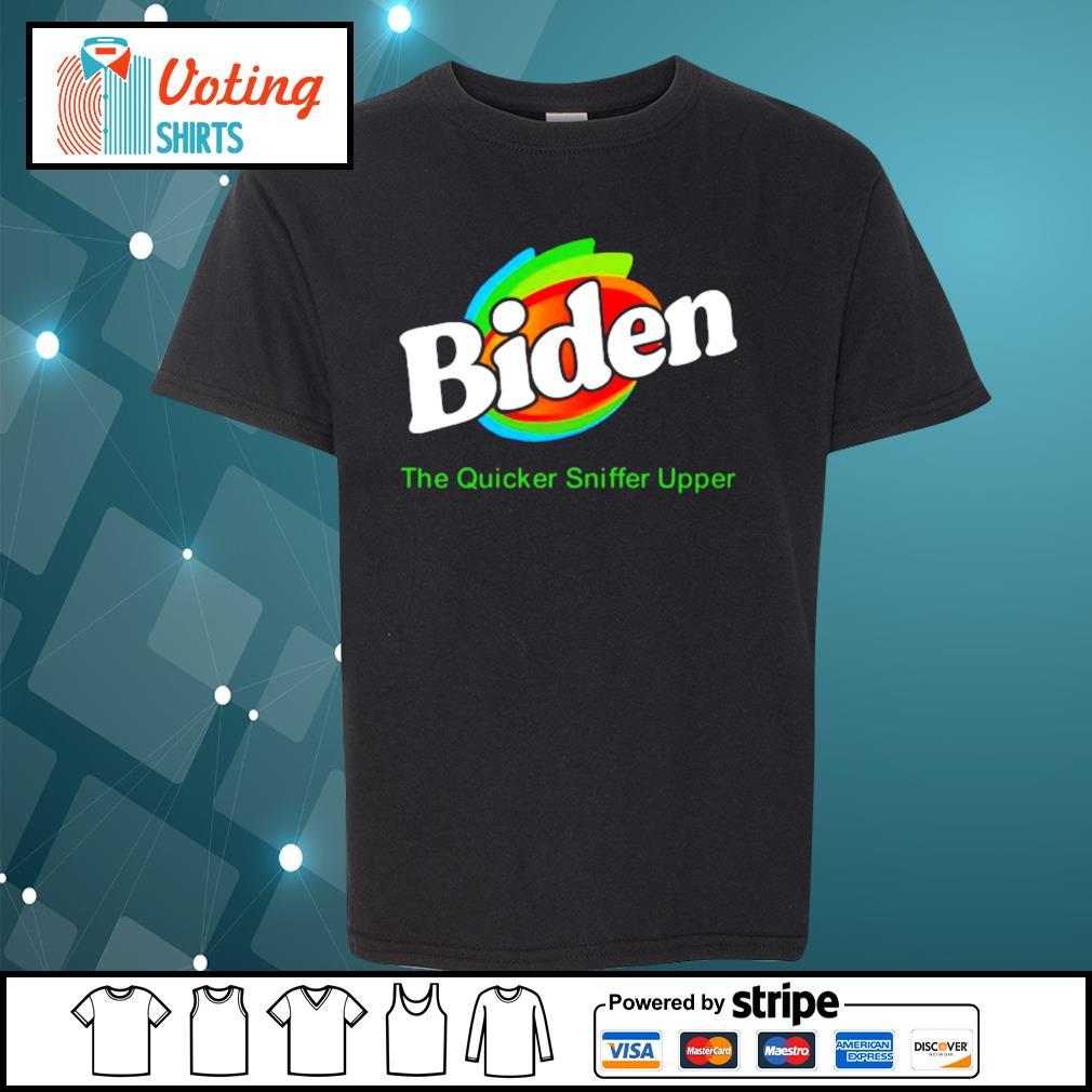 Biden The Quicker Sniffer Upper s youth-tee