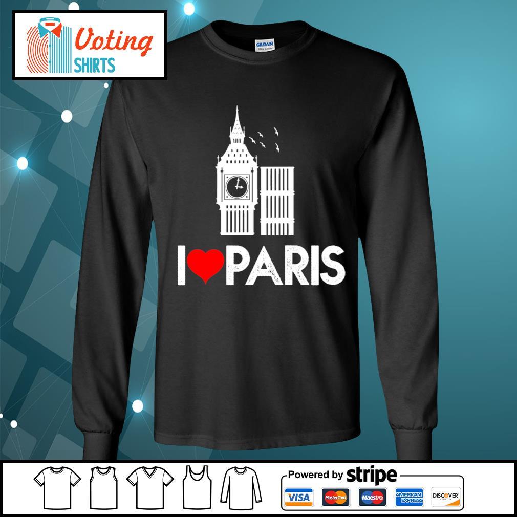 Big Ben I love Paris s longsleeve-tee