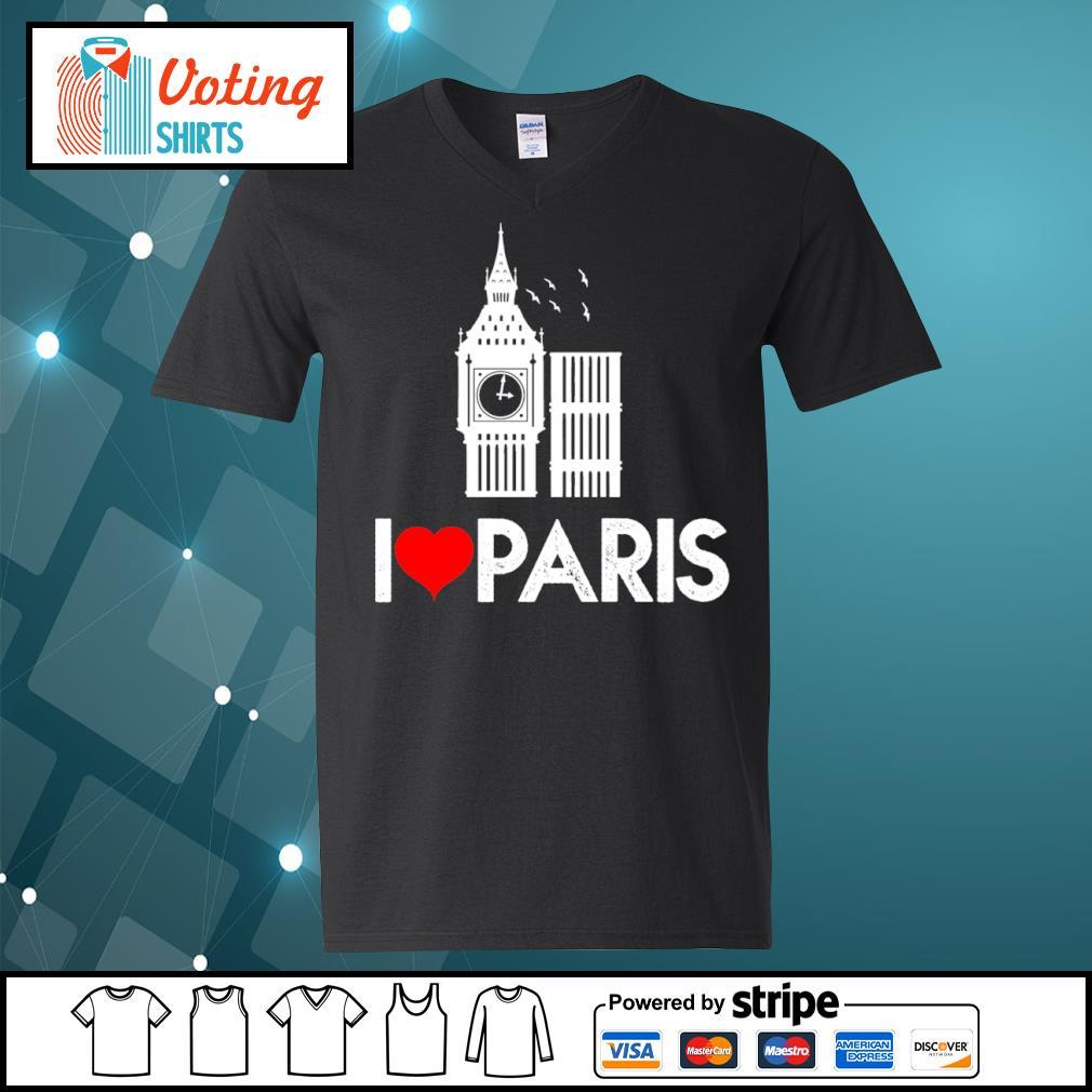 Big Ben I love Paris s v-neck-t-shirt