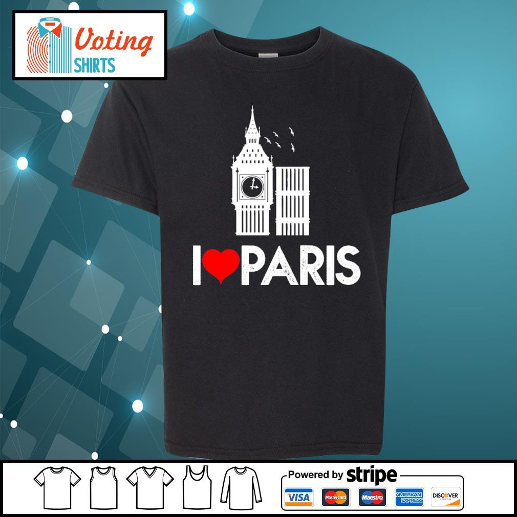 Big Ben I love Paris s youth-tee