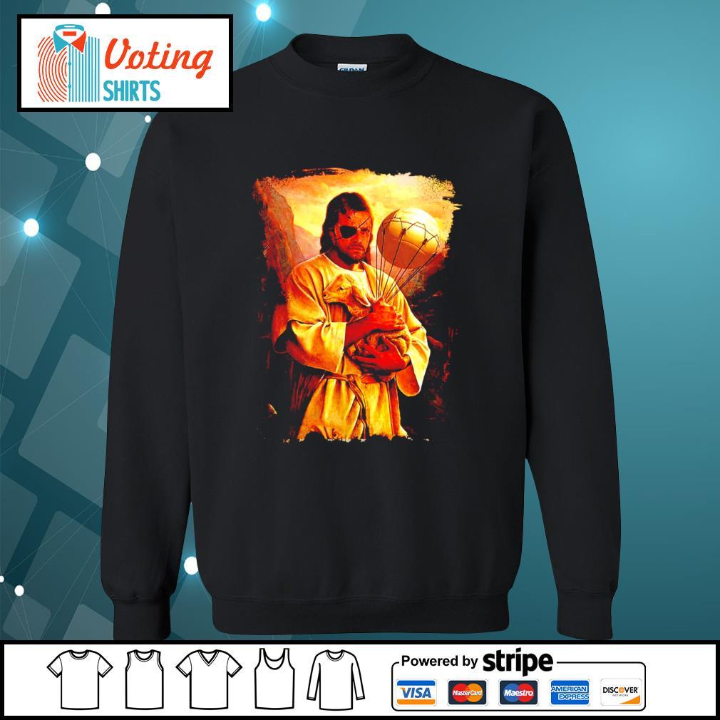 Big Boss Jesus hug Sheep s sweater