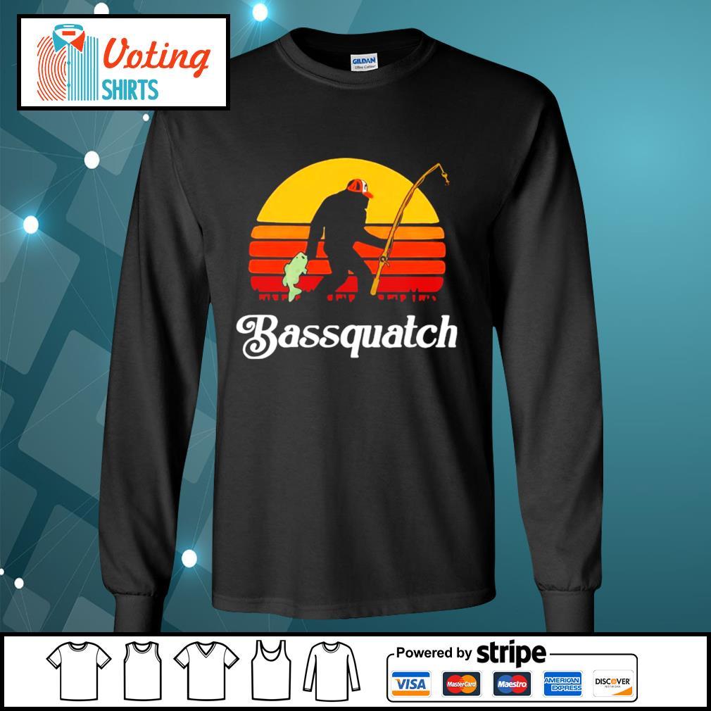 Bigfoot Bassquatch vintage s longsleeve-tee