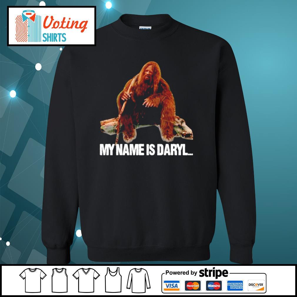 Bigfoot my name is Daryl s sweater