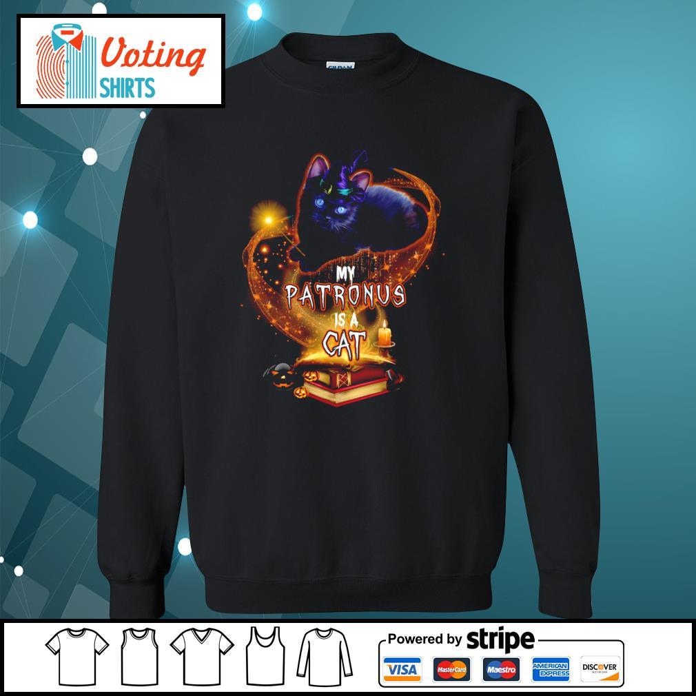 Black cat witch my patronus is a cat halloween s sweater
