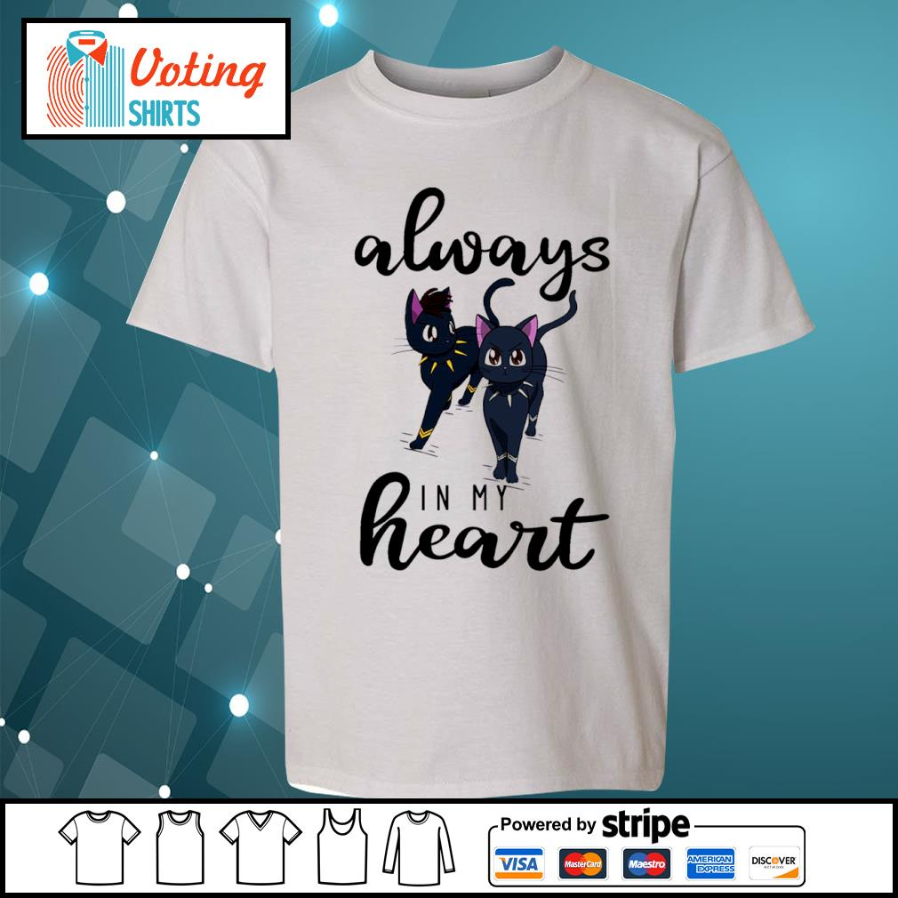 Black cats Black Panther always in my heart s youth-tee