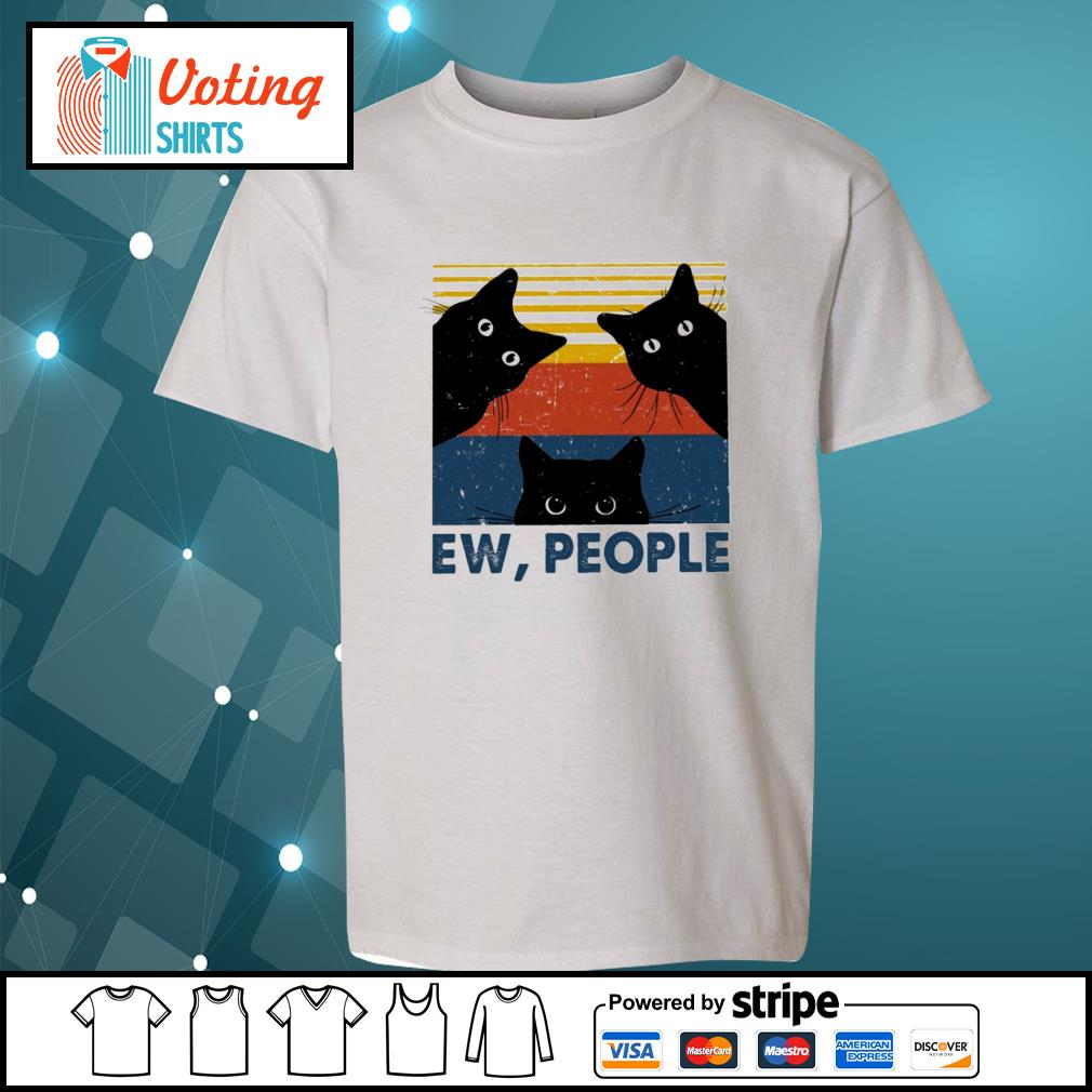 Black cats ew people vintage s youth-tee