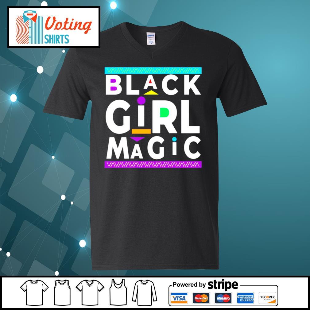 Black Girl Magic s v-neck-t-shirt