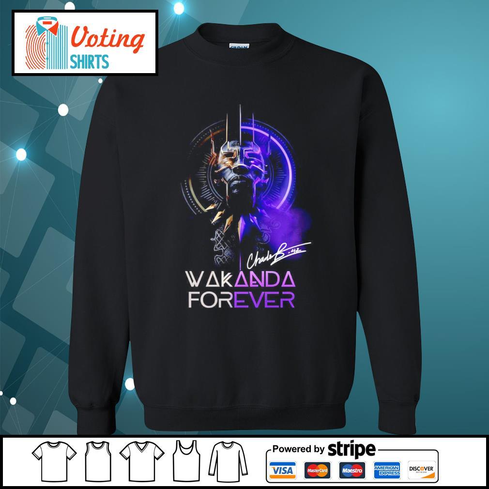 Black Panther Chadwick Boseman Wakanda forever signature s sweater
