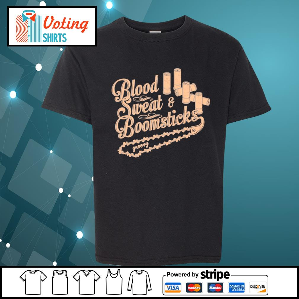 Blood sweat and boomsticks groovy s youth-tee