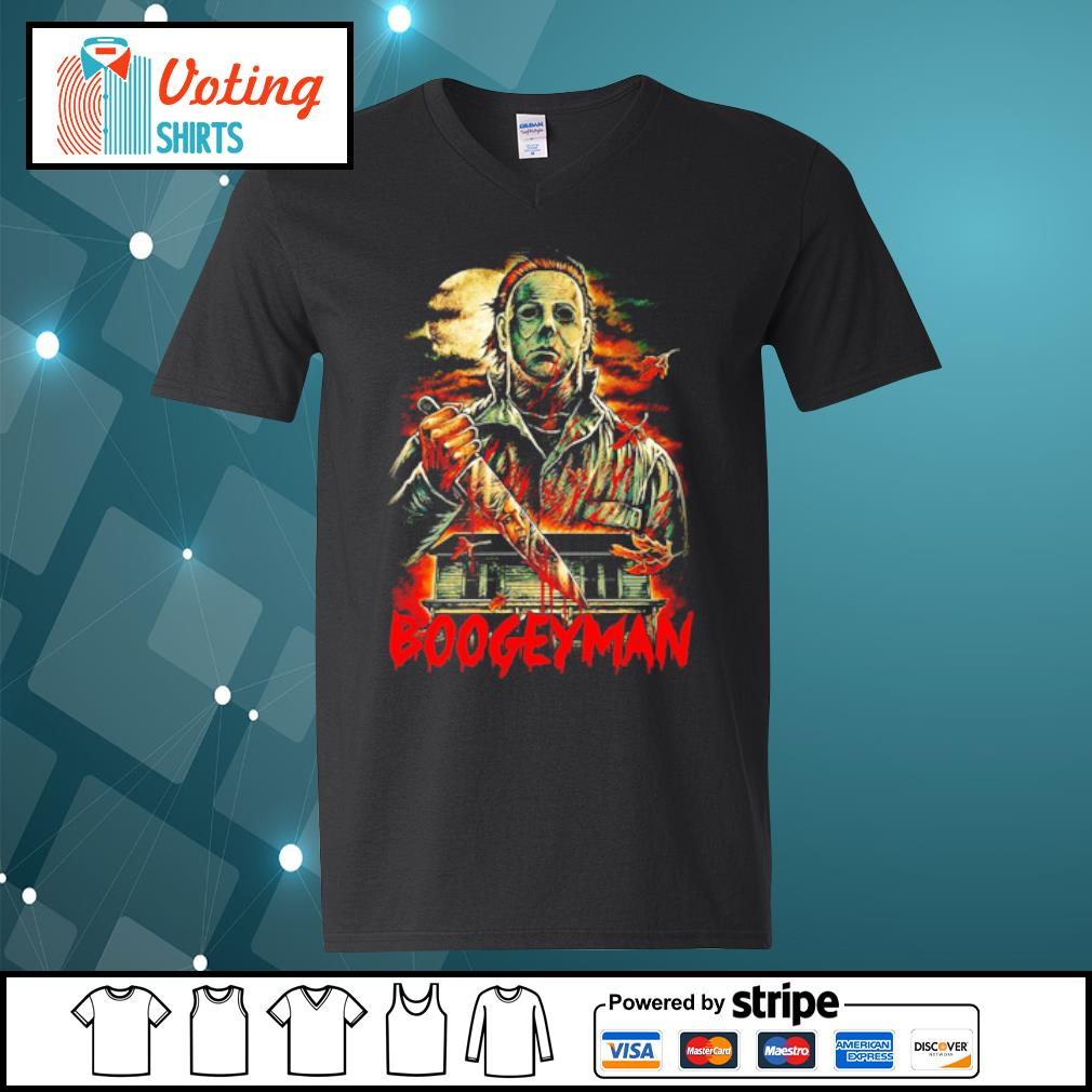 Boogeyman Michael Myers Halloween s v-neck-t-shirt