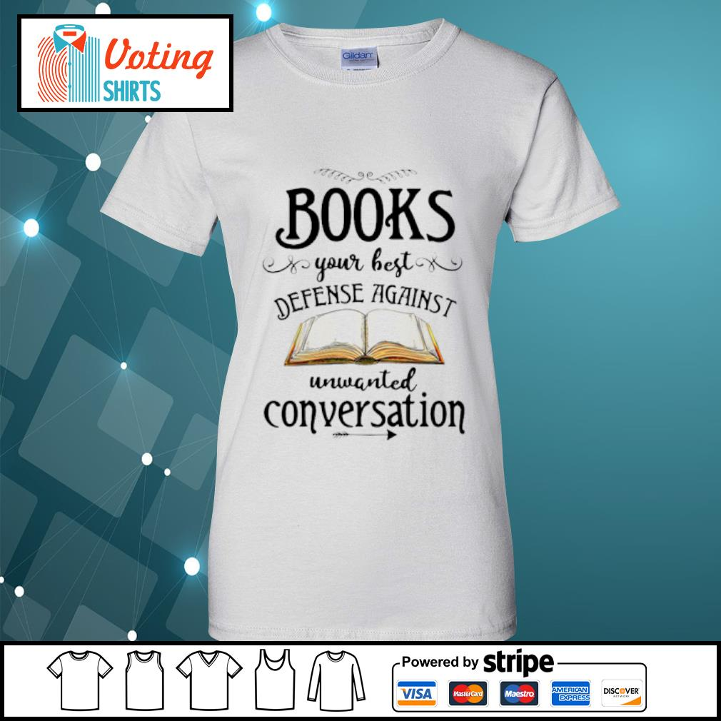 Books your best defense against unwanted conversation s ladies-tee