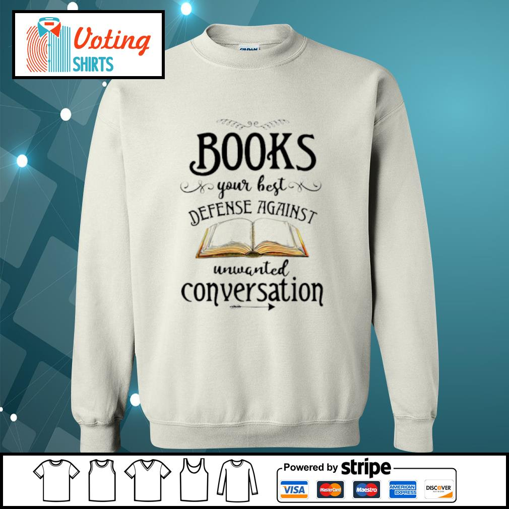 Books your best defense against unwanted conversation s sweater