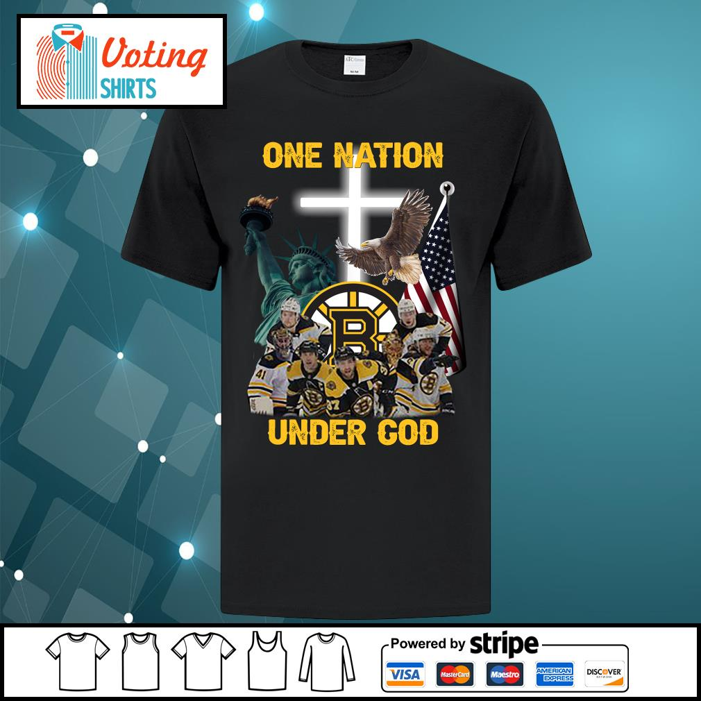 Boston Bruins one nation under god shirt
