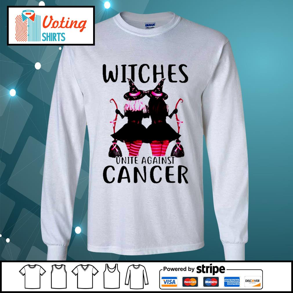 Breast Cancer Witches unite against cancer s longsleeve-tee