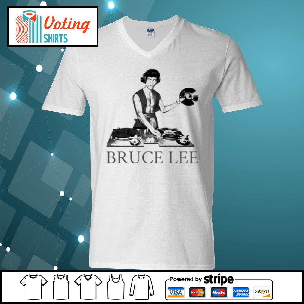 Bruce lee DJ s v-neck-t-shirt