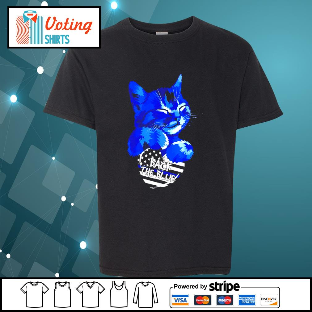 Cat Back The Blue s youth-tee