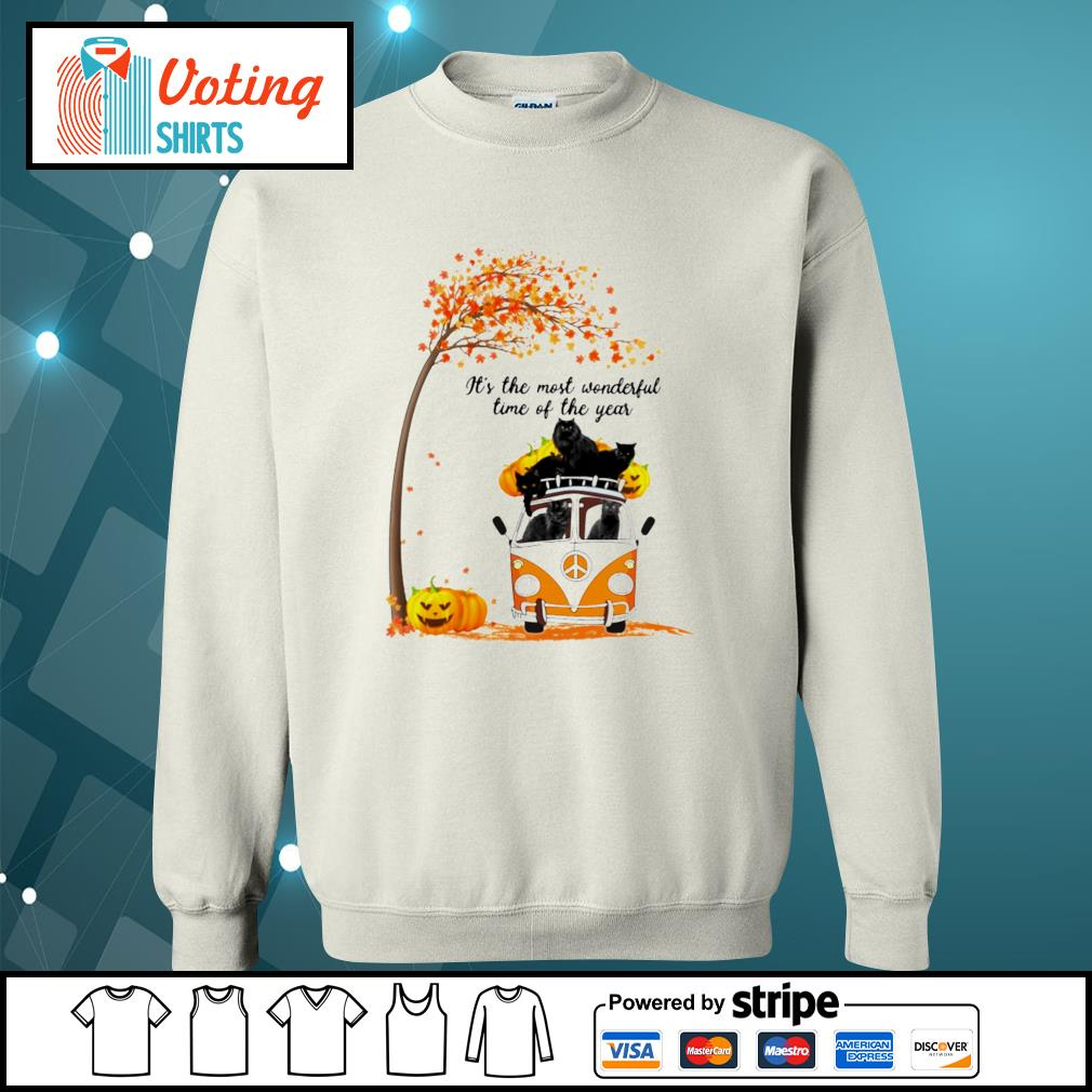 Cats black hippie car It's the most wonderful time of the year sweater