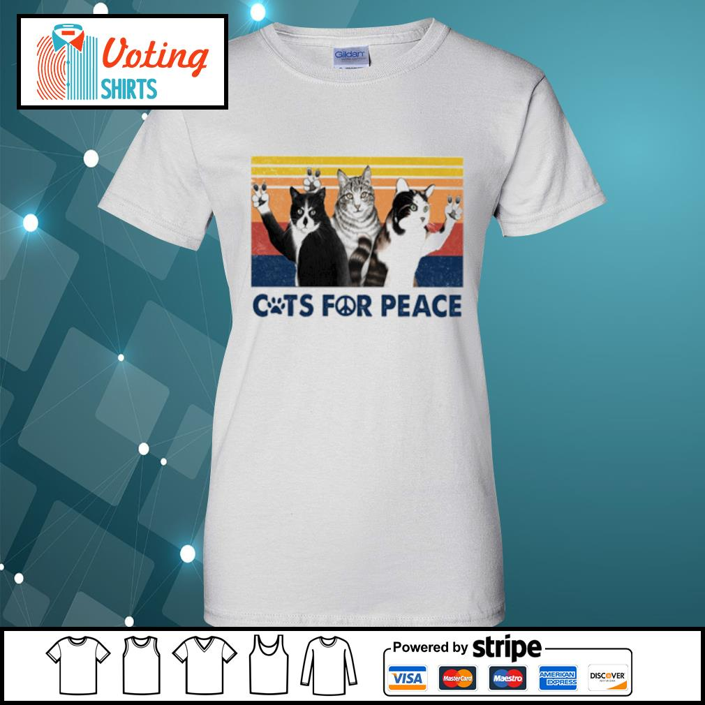 Cats for peace vintage s ladies-tee