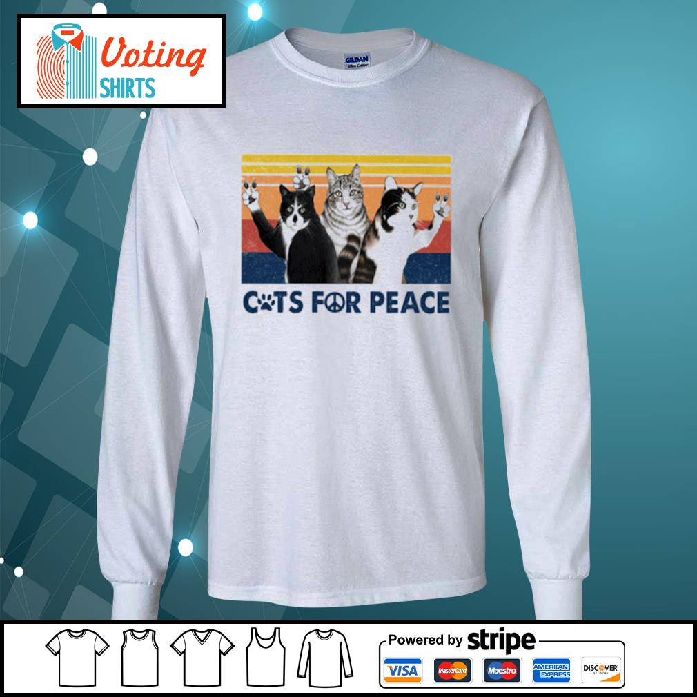 Cats for peace vintage s longsleeve-tee