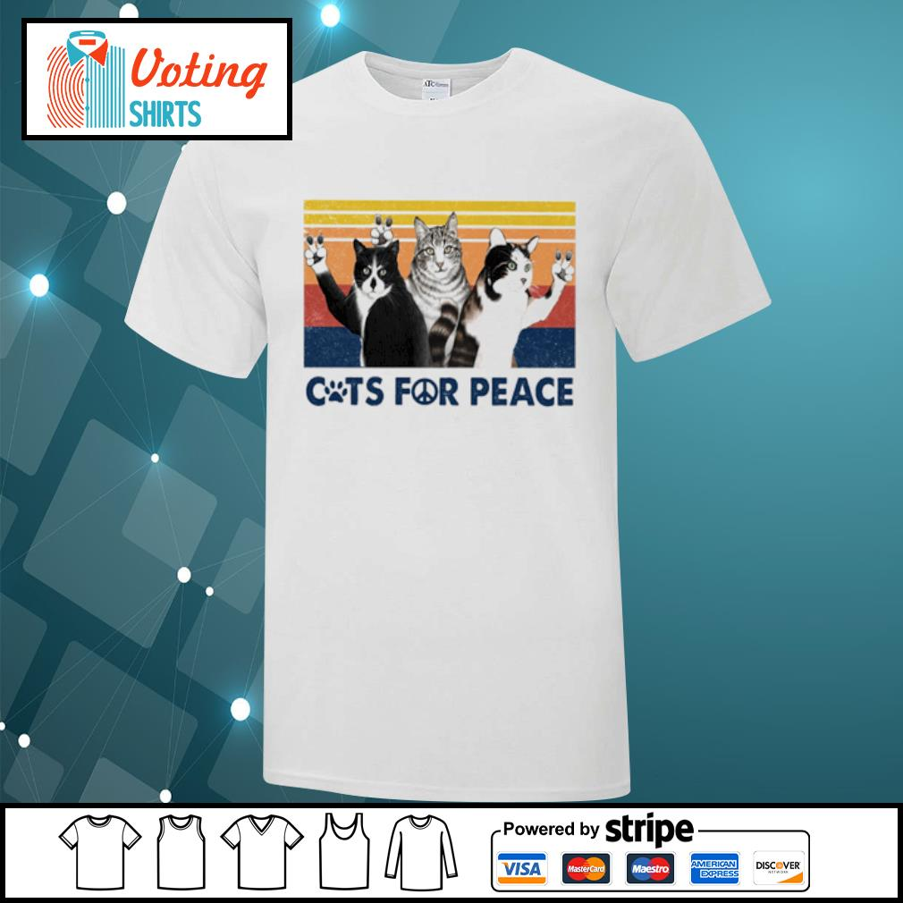 Cats for peace vintage shirt