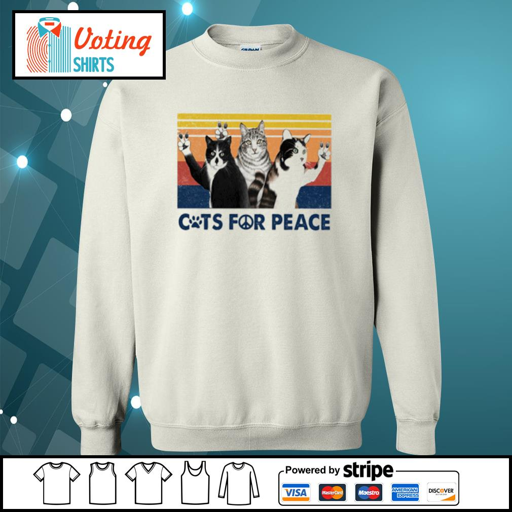 Cats for peace vintage s sweater