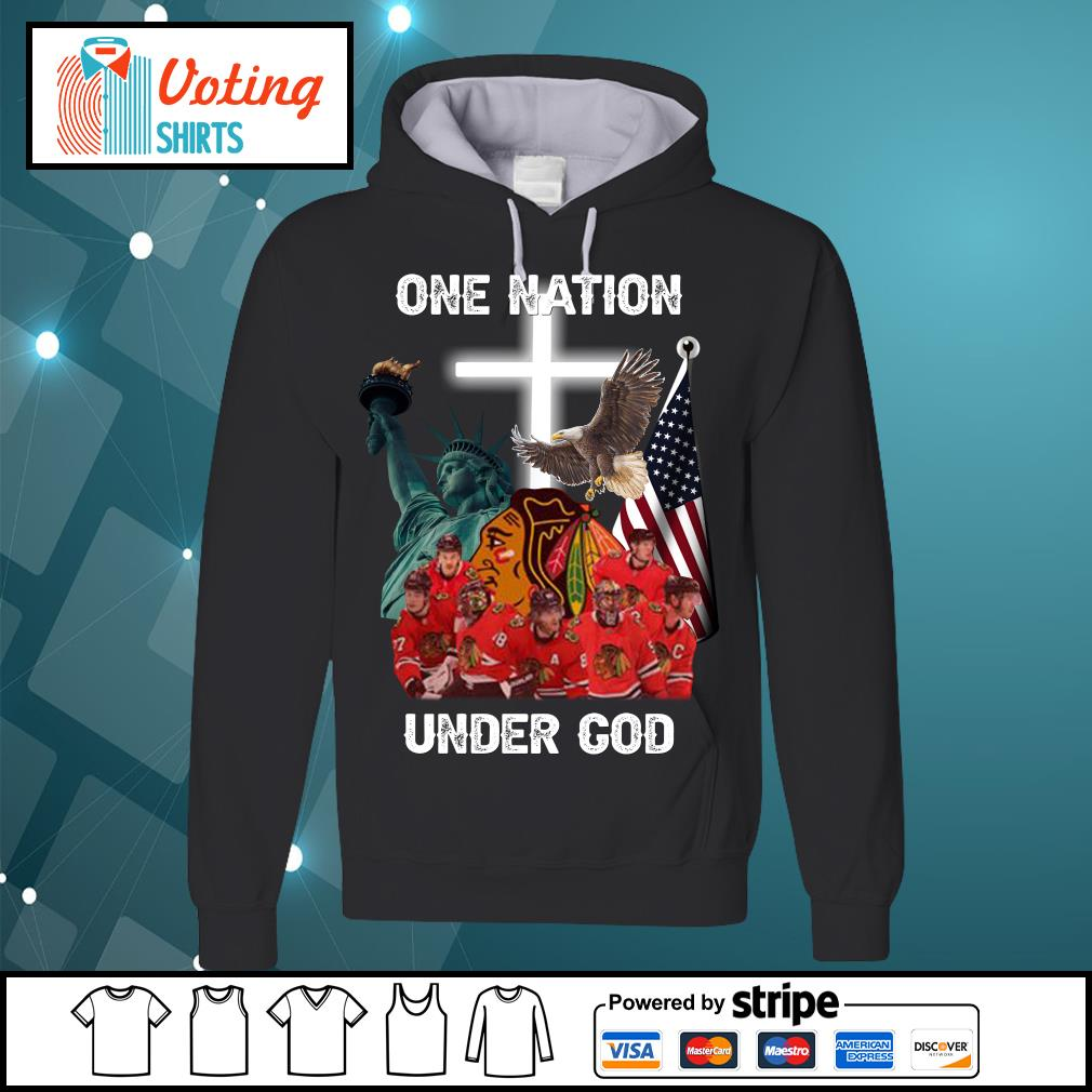 Chicago Blackhawks one nation under God s hoodie