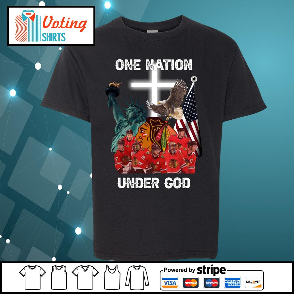 Chicago Blackhawks one nation under God s youth-tee