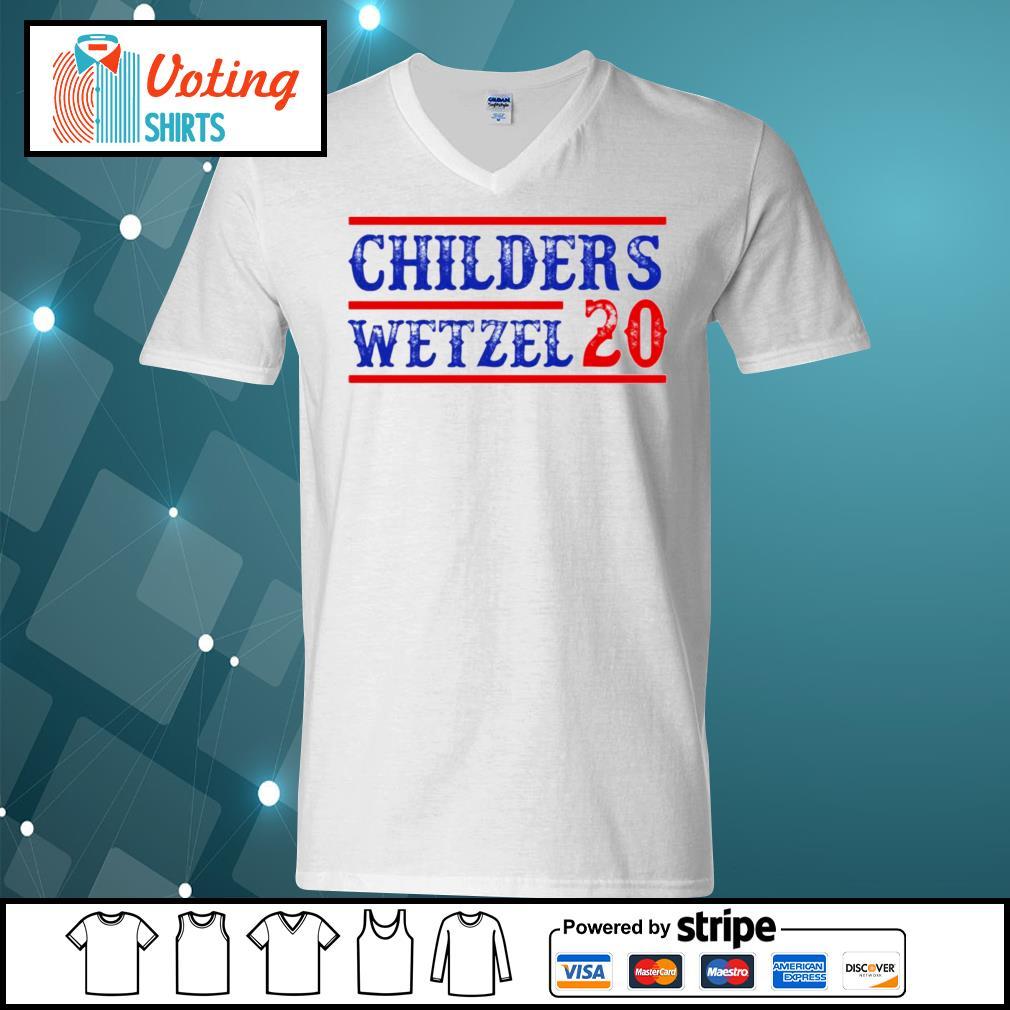 Children's Wetzel 20 s v-neck-t-shirt
