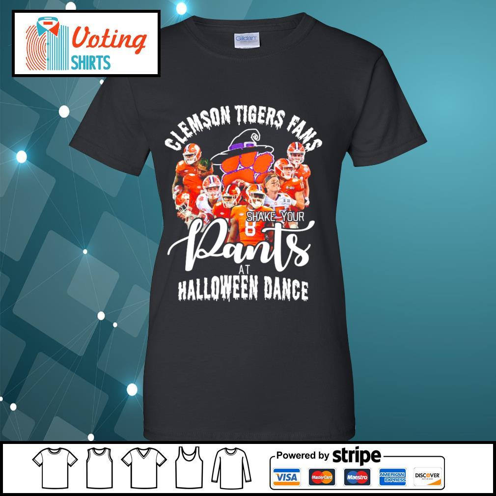 Clemson Tigers fans shake your pants at Halloween dance s ladies-tee