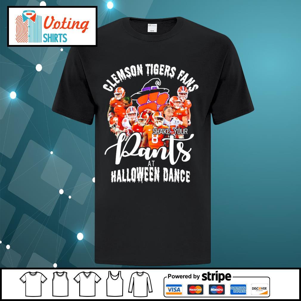 Clemson Tigers fans shake your pants at Halloween dance shirt