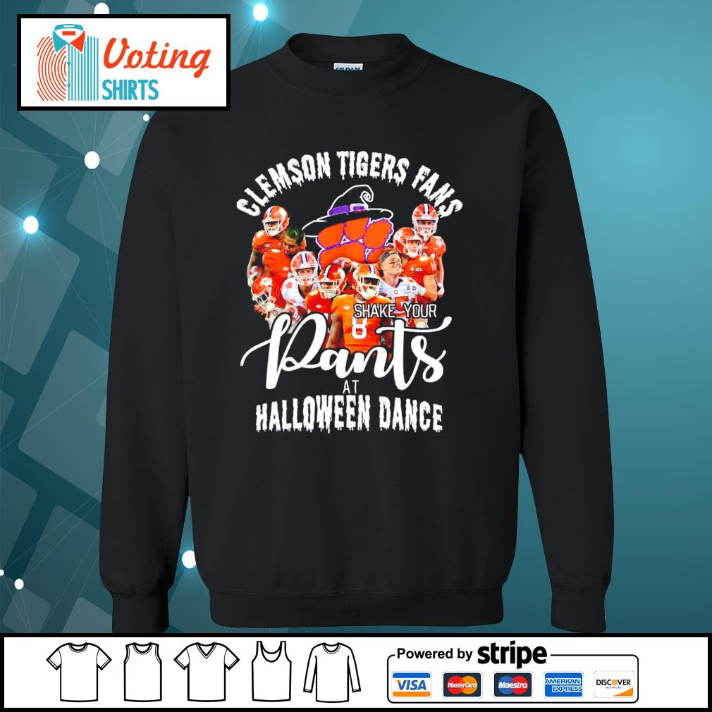 Clemson Tigers fans shake your pants at Halloween dance s sweater