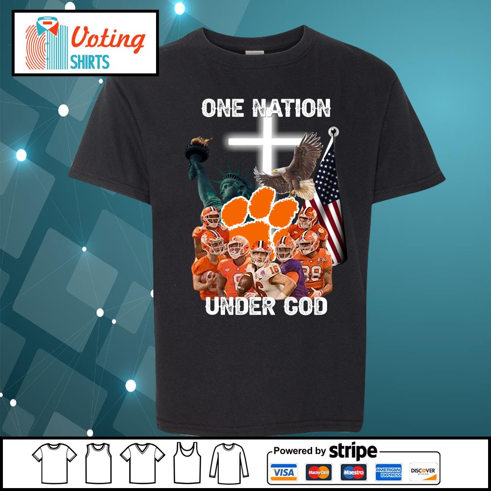 Clemson Tigers one nation under god s youth-tee
