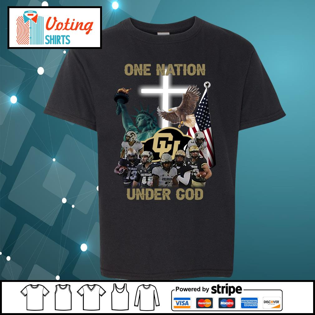 Colorado Buffaloes one nation under god s youth-tee