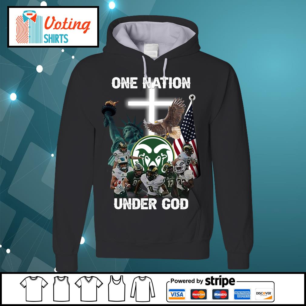 Colorado State Rams one nation under god s hoodie