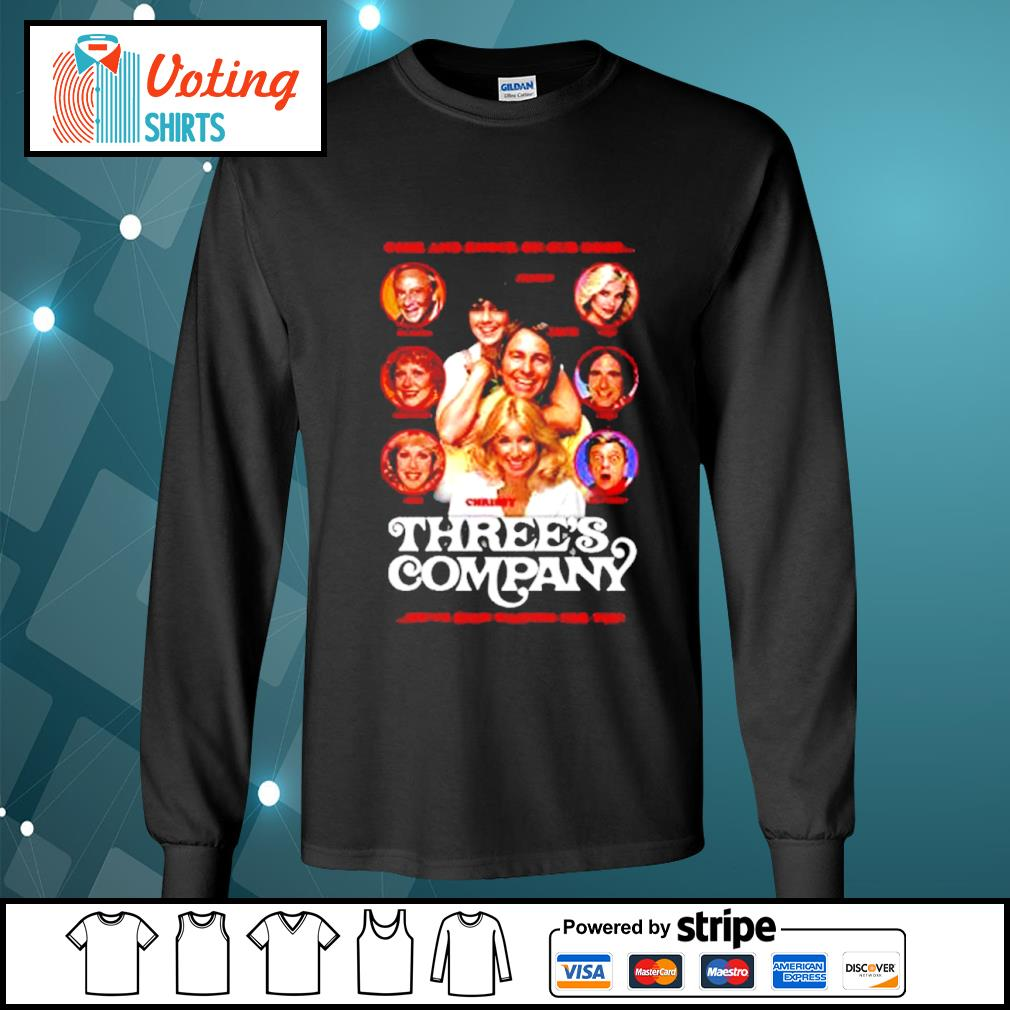 Come and knock on our door Three's Company s longsleeve-tee